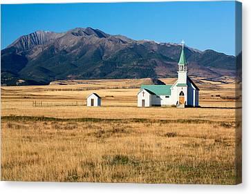 Mountain Chapel Canvas Print by Todd Klassy