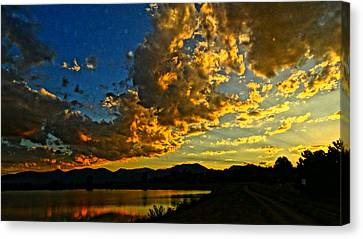 Mountain Colour Canvas Print by Eric Dee