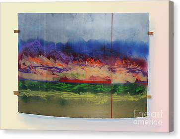 Canvas Print featuring the painting Mountain Crossing by Mordecai Colodner