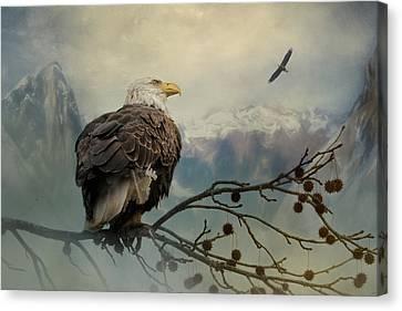 Mountain Dreams Bald Eagle Art Canvas Print