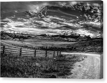 Mountain Driveway Canvas Print by Andrew Soundarajan