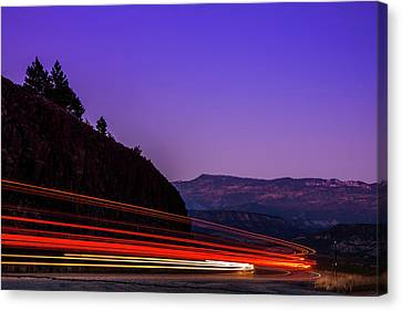 Mountain Driving Canvas Print by Andrew Soundarajan