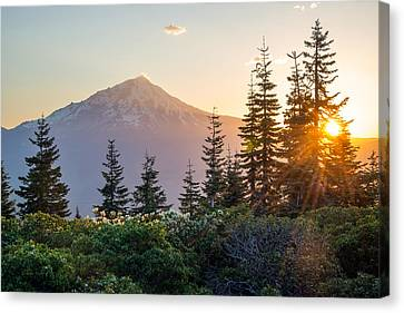 Mountain Evening Canvas Print by Leland D Howard