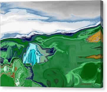 Mountain Falls Canvas Print
