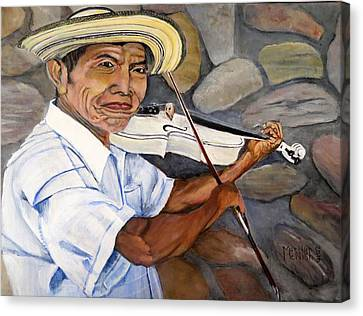 Mountain Fiddler Canvas Print by Marilyn McNish