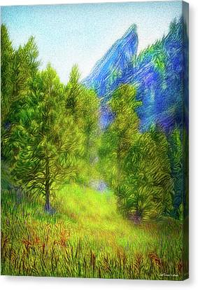 Mountain Field Springtime Canvas Print