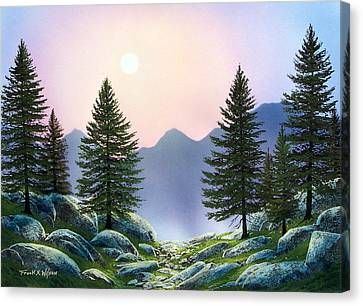 Mountain Firs Canvas Print by Frank Wilson