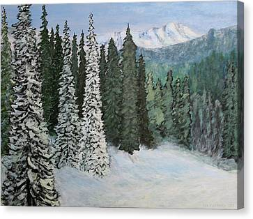 Mountain Foothills Canvas Print by Jim Justinick