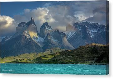 Mountain Glimmer Canvas Print by Andrew Matwijec