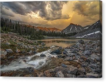 Mountain Glow Canvas Print by Leland D Howard