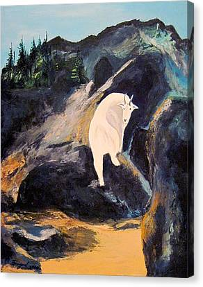 Mountain Goat Canvas Print by Richard Beauregard