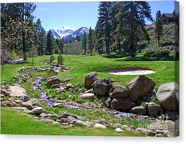 Mountain Golf Course Canvas Print by Thomas Marchessault