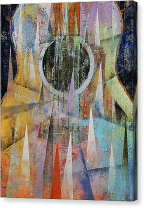 Mountain Guitar Canvas Print by Michael Creese