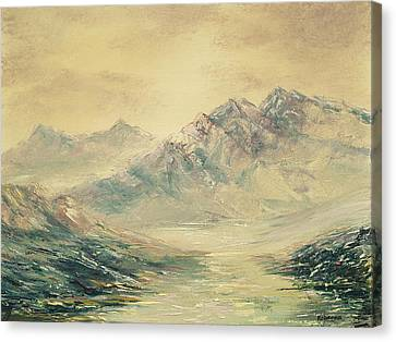 Canvas Print featuring the painting Mountain High by Rebecca Kimbel