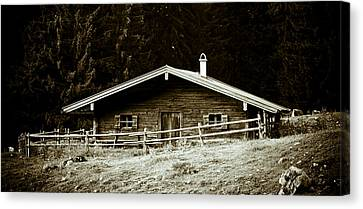 Mountain Hut Canvas Print by Frank Tschakert