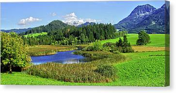 Mountain Lake Austria Canvas Print