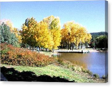 Mountain Lake Autumn Canvas Print