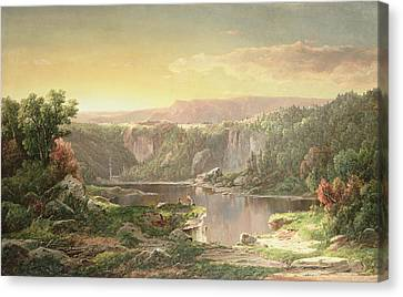 Mountain Lake Near Piedmont Canvas Print by William Sonntag