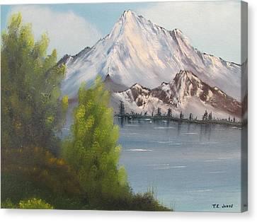 Mountain Lake Canvas Print by Thomas Janos