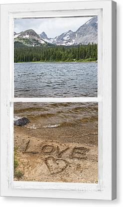 Mountain Lake Window Of Love Canvas Print by James BO  Insogna