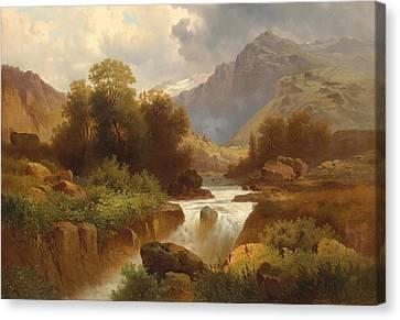 Mountain Landscape Canvas Print by Celestial Images