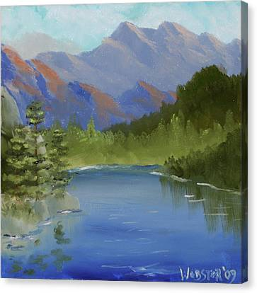Mountain Landscape By Northern California Artist Mark Webster Canvas Print by Mark Webster