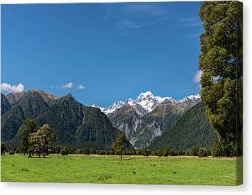 Canvas Print featuring the photograph Mountain Landscape by Gary Eason