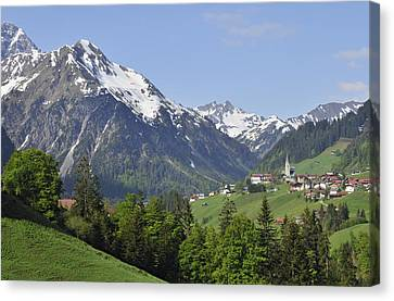 Mountain Landscape In The Austrian Alps Canvas Print by Matthias Hauser