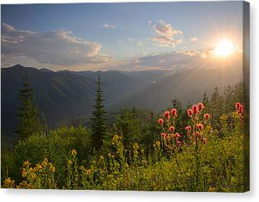 Mountain Light Canvas Print by Idaho Scenic Images Linda Lantzy