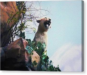 Mountain Lion - Paint Effect Canvas Print by Brian Wallace