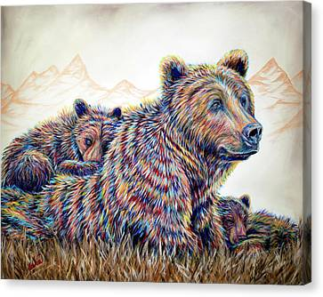 Mountain Living 2 Canvas Print by Teshia Art