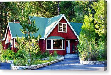 Canvas Print featuring the photograph Mountain Lodging by Glenn McCarthy Art and Photography