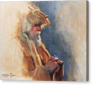 Mountain Man Canvas Print by Anna Rose Bain