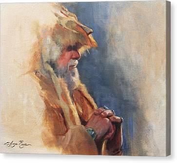 Mountain Man Canvas Print by Anna Rose Bain