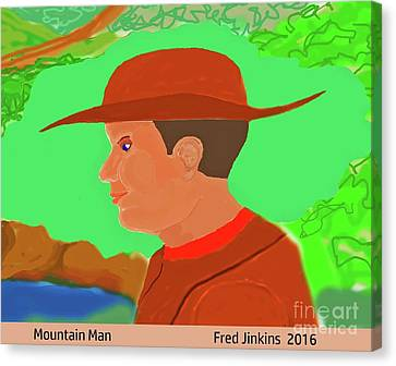 Mountain Man Canvas Print by Fred Jinkins