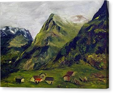 Mountain Meadow Canvas Print by Roseann Gilmore