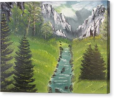 Mountain Meadow Canvas Print by Thomas Janos