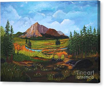 Mountain Meadows Canvas Print by Myrna Walsh