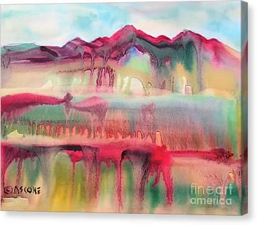 Mountain Mirage Canvas Print by Teresa Ascone