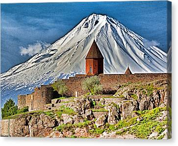 Mountain Monastery Canvas Print by Dennis Cox WorldViews