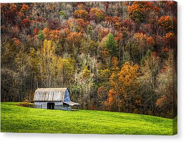 Charming Cottage Canvas Print - Mountain Mood by Debra and Dave Vanderlaan
