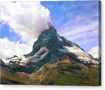 Canvas Print featuring the photograph Mountain Of Mountains  by Connie Handscomb