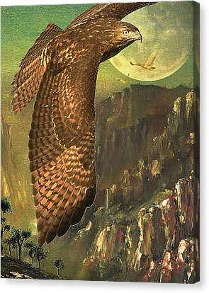 Mountain Of The Hawks Canvas Print by Wingsdomain Art and Photography