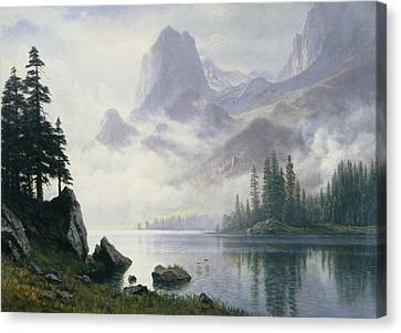 Mountain Out Of The Mist Canvas Print