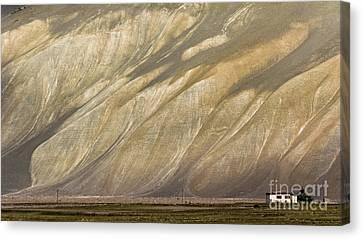 Canvas Print featuring the photograph Mountain Patterns, Padum, 2006 by Hitendra SINKAR