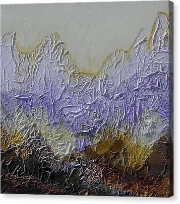 Mixed Media On Canvas Print - Mountain Peaks by Irina Rumyantseva