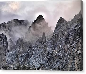 Mountain Peaks Canvas Print by Leland D Howard