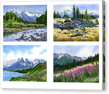 Mountain Peaks Poster Canvas Print by Sharon Freeman