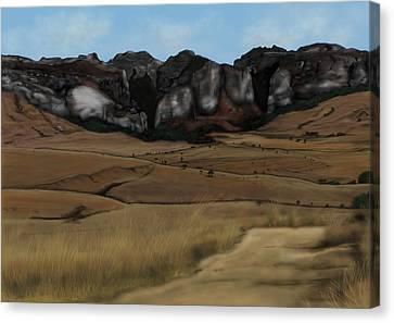 Mountain Plains Canvas Print by Steven Powers SMP