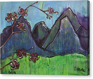Mountain Pose Canvas Print by Laurie Maves ART